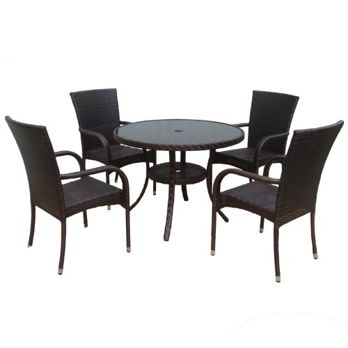 Dunloe Rattan Effect Indoor  Outdoor Furniture Set includes Round Table  4  Chairs  5 Pieces   Amazon co uk  Garden   Outdoors. Dunloe Rattan Effect Indoor  Outdoor Furniture Set includes Round