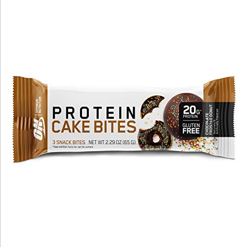 Optimum Nutrition Optimum Nutrition Protein Cake Bites/Whipped Protein Bars, Chocolate Frosted Donut (9 Count of 2.29 oz Bars), 26.94 oz