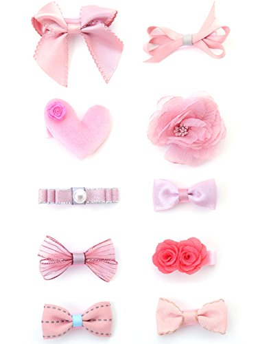 Components Bow Left (Belle Beau Baby Girls Hair Bows, Hair Clips, Ribbon Lined Alligator Hair Clips (Z-Dix-E))