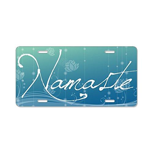 - CafePress - Namaste Aluminum License Plate - Aluminum License Plate, Front License Plate, Vanity Tag