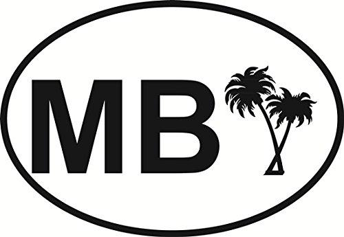 Miami Beach Palm Trees Oval Bumper Sticker