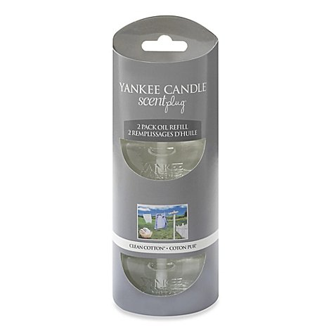 Yankee Candle Clean Cotton Electric Plug in Refills Twin (Electric Plug In Refill)