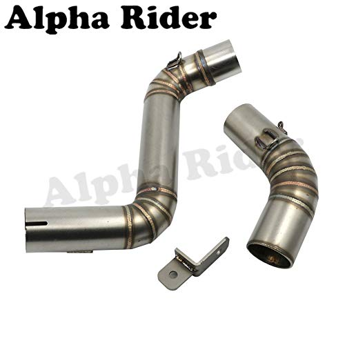 Motorcycle Middle Exhaust Pipe Stainless Steel Elbow Bend Tube for KTM 125 200 390 Duke 2012-2016 2015 2014 2013