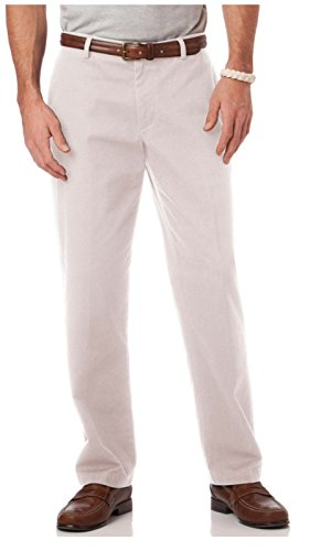 (Chaps Men's Classic-Fit Twill Flat-Front Pants (42W/30L, Stone))