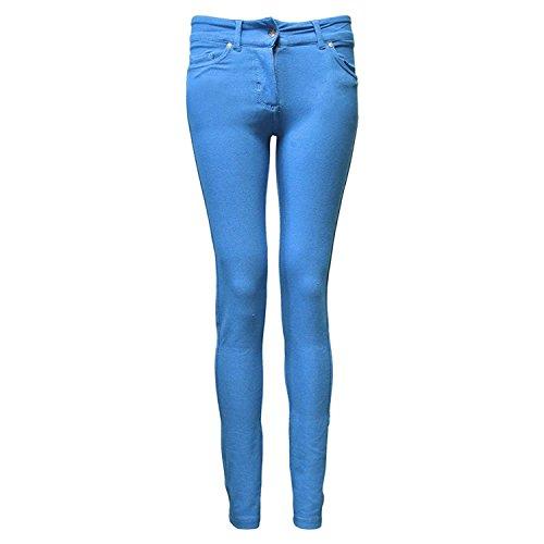 Denim Look JEGGINGS Leggings Sky LADIES Blau SKINNY WOMENS NOROZE FIT wFqXX6