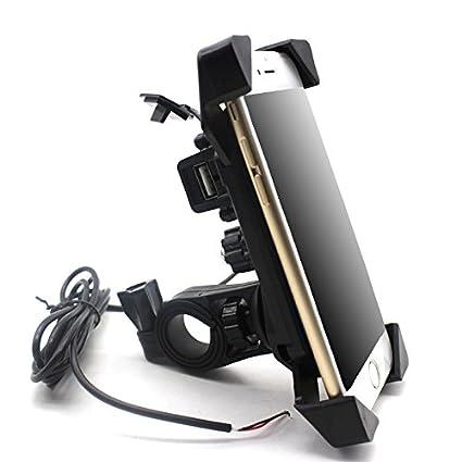 WOVELOT Cargador USB de Motocicleta 12-30 V Universal Moto ...