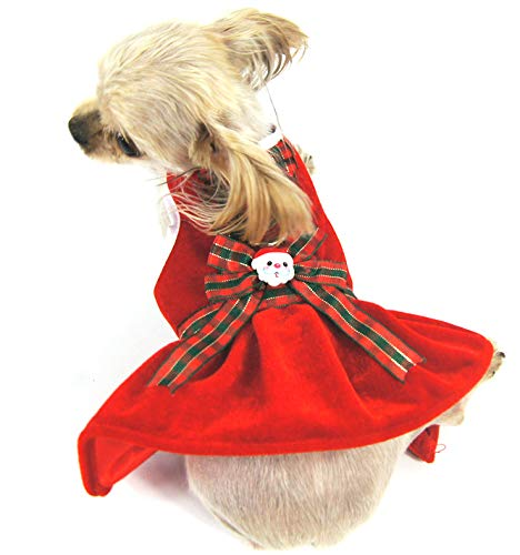 XL Shangyuan Pet Christmas Style Dress Red Knitted Cotton Multiple Sizes Durable Easy to Clean Pet Breathable Vest Dress