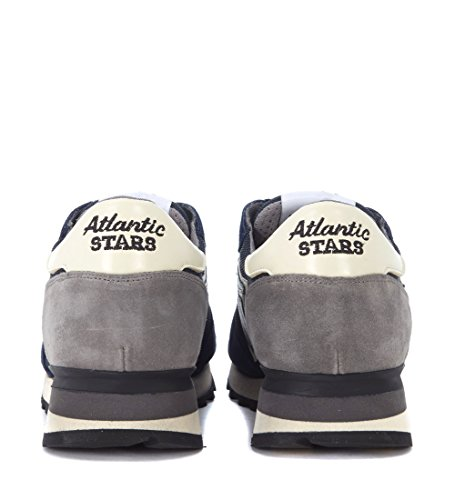ATLANTIC STARS Mens argo Suede Leather and Mesh Sneaker Blue yiZE3KU