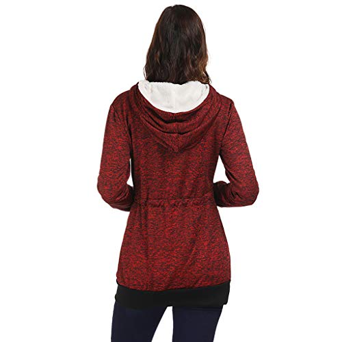 newest 1f08d bcb28 Invernale Giacca Cutude Cappotto Giacche Peluche Rosso Donna ...