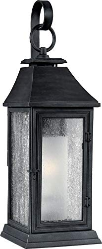 Feiss OL10601DWZ Shepherd Marine Grade Outdoor Patio Lighting Wall Lantern, Bronze, 1-Light (7