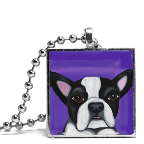 Boston Terrier named Moose Necklace