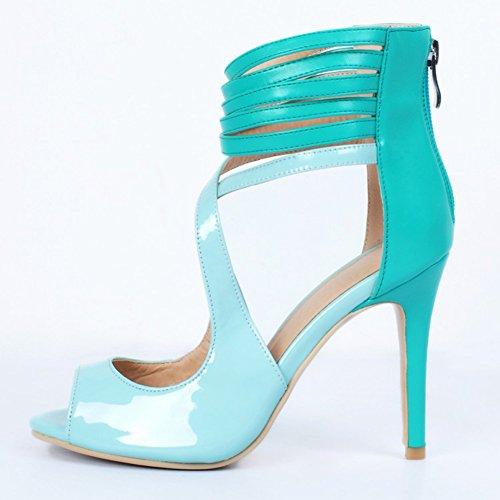 Kolnoo - Pantuflas de caña alta Mujer Azul