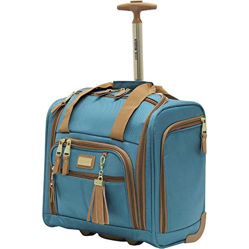 Steve Madden Luggage Wheeled Suitcase Under Seat Bag (Harlo Teal Blue)