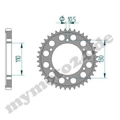 Bj.2014 120did530vx remachadora DID Cadena de Aluminio Yamaha YZF1000R1 Rn22 47 17