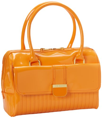 Ted Baker Burnam Satchel,Bright Orange,One Size, Bags Central