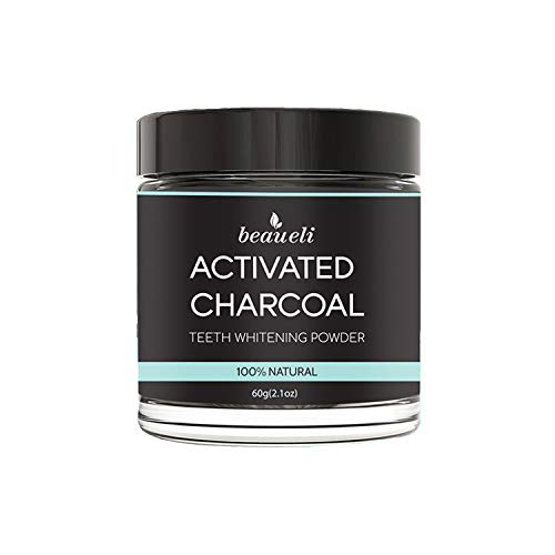 Beaueli Activated Charcoal Teeth Whitening Powder Natural Black Teeth Whitener Coconut Charcoal Powder