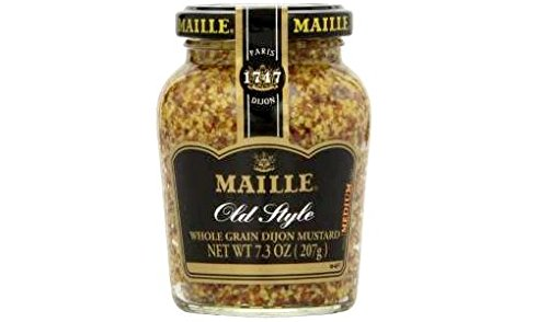 Maille Old Style Whole Grain Dijon Mustard (Pack of 2) 7.3 oz Jars