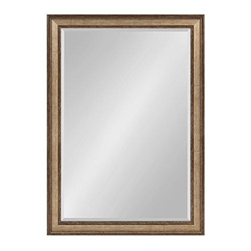 Kate and Laurel Corrigan Large Framed Rectangle Wall Mirror, 29 x 41 Gold by Kate and Laurel