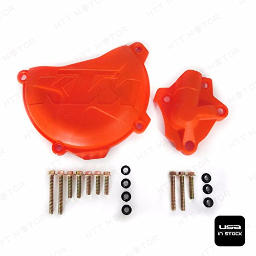 Moto Clutch (SMT MOTO- Clutch Cover Protection Guard Water Pump Protector For KTM 350 EXC-F SIX DAYS 2012-2016/ SX-F 2011-2015/ EXC-F 2012-2016/ XC-F 2013-2015/ XCF-W SIX DAYS 2014-2016/ KTM FREERIDE 350 13-16)