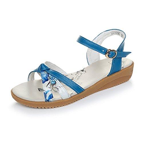 Oscuro 240mm Piso Ocio Claro 5 Verano Sandalias Tamaño UK5 PENGFEI Mujeres Color Azul Antideslizante EU38 Sandalias Cómodo con Mujer L de Zapatillas Embarazadas Azul de Verano F4wAg
