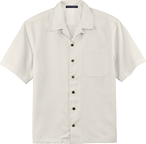 Port Authority Easy Care Camp Shirt, 3XL, Ivory