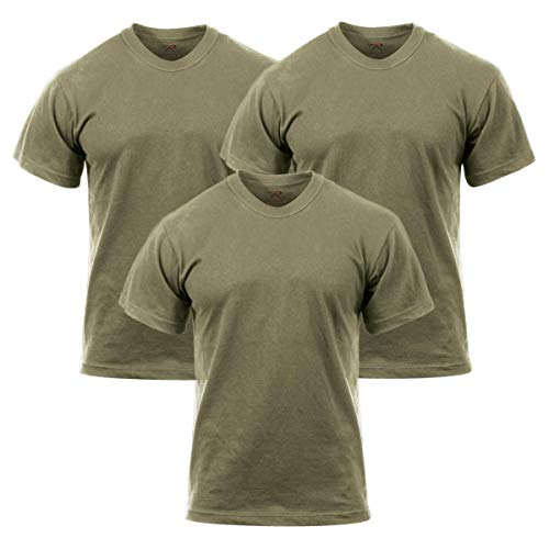 And 1 T-shirt Cotton - Rothco 3-Pack Solid Color 100% Cotton T-Shirt, AR 670-1 Coyote Brown, Large