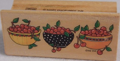 Mary Engelbreit Wood Mounted Rubber Stamp-Bowls of Cherries (Mary Engelbreit Bowls)