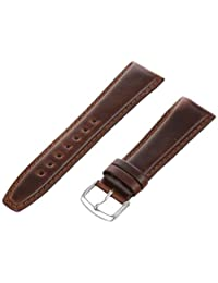 Hadley-Roma Men's MSM881RB-220 22mm Brown Oil-Tan Leather Watch Strap
