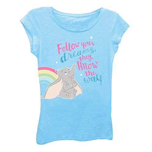 Dumbo Girls Movie Tee Shirt - Disney The Elephant Fashion T-Shirt (Cancun, Large-6X) ()