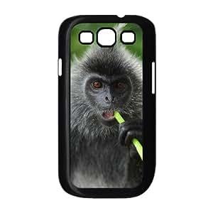 Diy Lovely Monkey Phone Case for samsung galaxy s3 Black Shell Phone JFLIFE(TM) [Pattern-2]