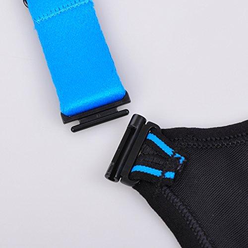 SYROKAN - Sujetadores Deportivo de Alto Impacto Correr Pecho Grande Para Mujer Azul zafiro