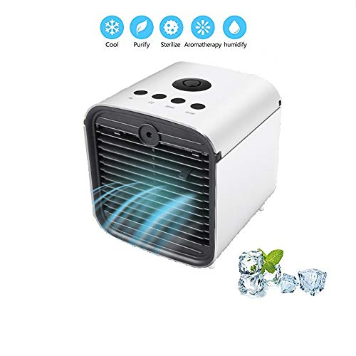 Latest Personal Air Cooler, Leak-Proof 3-in-1 Portable Evaporative Cooler, 3 Speeds, Ultra-Quiet Air Cooler Table Fan for Home Office Bedroom Car