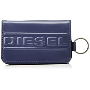 Diesel Men's Bolded D Wallet and Key Holder, Peacoat Blue, One Size