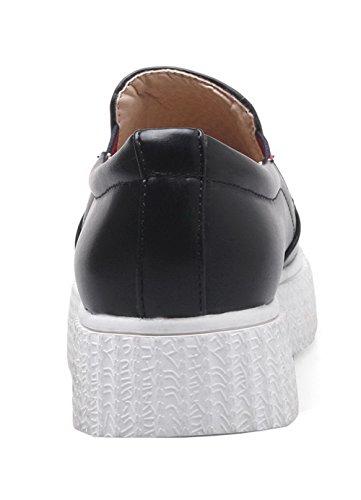Verschiedene Heels On VogueZone009 Schuhe Pull Schwarz Zehe Pumps Pu Farben Runde Damen Low nnU6Z8