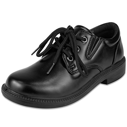 French Toast Boys Damien Uniform Dress Shoe Black (Black Dress Uniform Shoes)