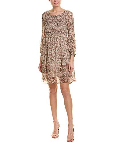 Velvet by Graham & Spencer Women's Ariana Printed Smocked Dress, Multi, M