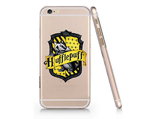 finest selection c51e7 be48f Amazon.com: Hufflepuff Logo Clear Transparent Plastic Phone Case for ...