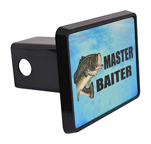 Rogue River Tactical Funny Fishing Master Baiter Trailer Hitch Cover Plug Fish Bass Gift for Fisherman ()