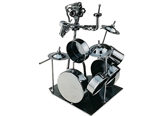 Winterworm Modern Musician Drummer Band Metal Statues Ornament For Home Office Decoration Birthday Gift Collection(44-991) (Modern Drummer Best Drummers)