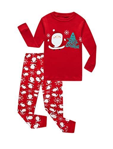 Christmas Santa Claus Tree Baby Boys Long Sleeve Pajamas 100% Cotton Sleepwears Infant Size 18-24 Mothes]()