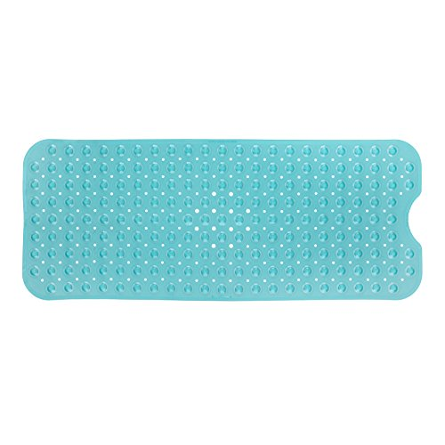 SlipX Solutions Aqua Extra Long Bath Mat Adds Non-Slip Traction to Tubs & Showers – 30% Longer than Standard Mats! (200 Suction Cups, 39″ Long – Extended Coverage, Machine Washable)
