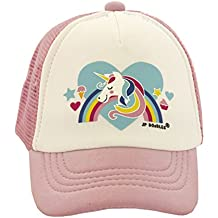 JP DOoDLES® Unicorn On Kids Trucker Hat. The Kids Baseball Cap Is Available In Baby, Toddler, and Youth Sizes.