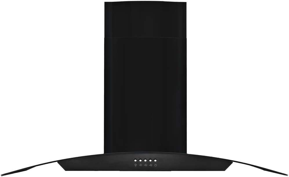 vidaXL Campana Extractora Pared 90 cm Negro Electrodoméstico Ventilador Cocina: Amazon.es: Grandes electrodomésticos
