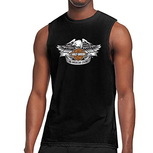 - LucyEve Harley Davidson Fashion Sleeveless T Shirt for Male Black M