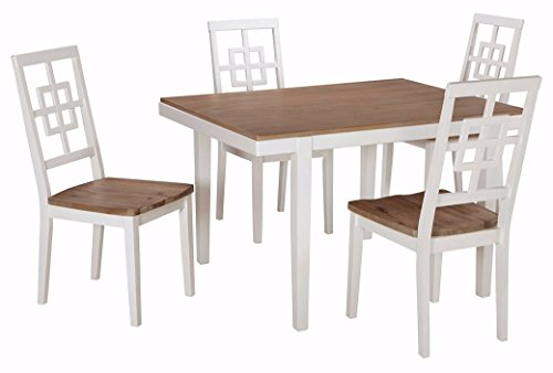 Ashley Furniture Signature Design – Brovada Rectangular 5-Piece Dining Room Set – Includes Table & 4 Chairs – Two-tone Finish