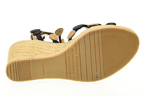 PALOMA BARCELO Sandalen Frauen Schuhe mit Keil ALCO SUEM Blu Multi