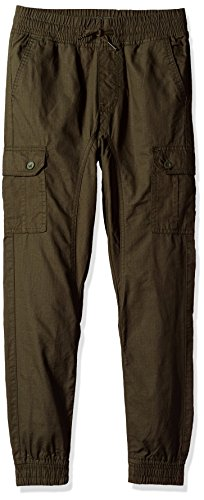 Southpole Big Boys' Ripstop Cargo Jogger Pants, Olive, Small (Childrens Cargo Pants)