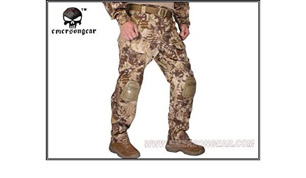 ef8171e17d Amazon.com: EMERSON G3 Tactical Pants with Knee Pads Highlander Military  Army Airs EM7047 M/32: Clothing