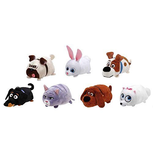 TY Beanie Boos - Teeny Tys Stackable Plush - Secret Life of Pets - SET OF 7