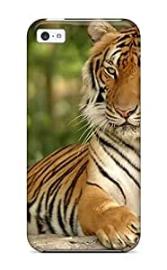 Fashion Tpu Case For Iphone 5c- Cool Tiger On A Rock Defender Case Cover